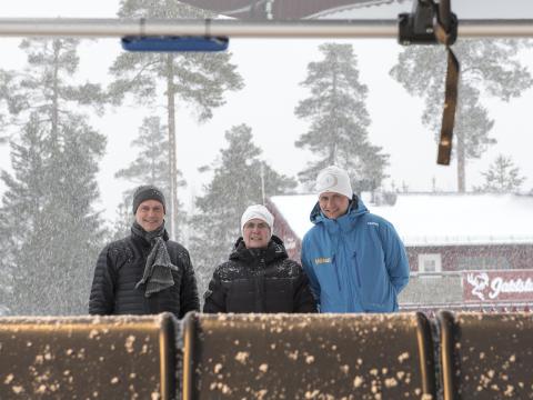 Dalarnas Landshövding på invigning av Stötens storinvestering.