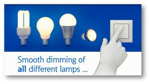 Kaikille lampuille sopiva himmennin, Eaton Smart Dimmer
