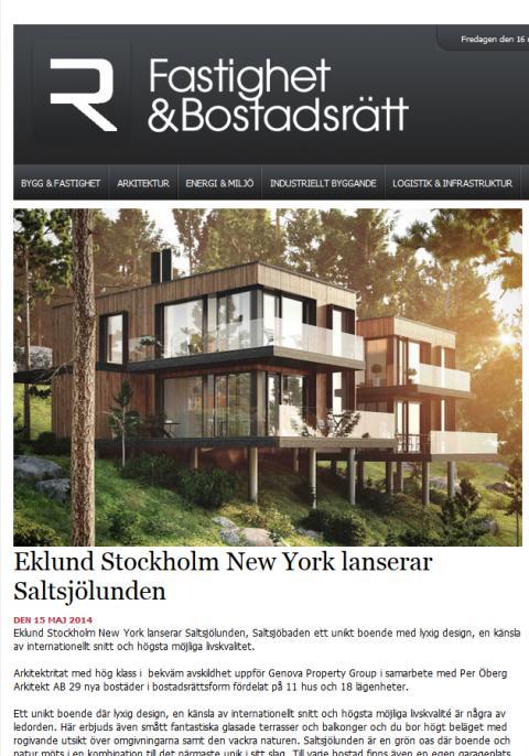 Eklund Stockholm New York lanserar Saltsjölunden