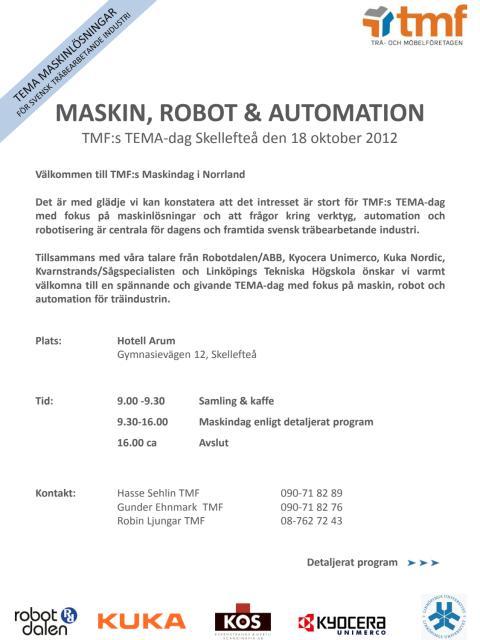 MASKIN, ROBOT & AUTOMATION