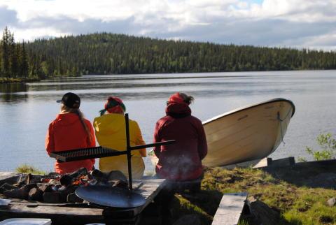 Avkoppling och fisk på kroken