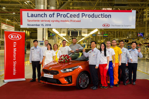 Produksjonsstart av nye Kia ProCeed.