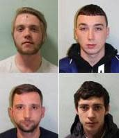 Four men jailed for burglaries