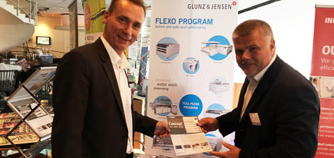 Glunz & Jensen was represented with own stand at Miller Flexo Forum in Sweden