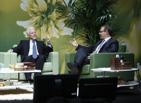 Professor Jan Lindhe and Dr. Michael Norton at Satellite symposium at EAO 2012