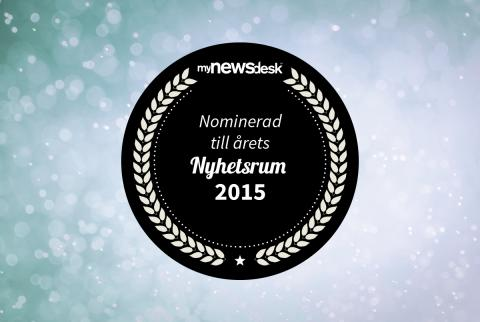 Nominerad till årets Nyhetsrum 2015
