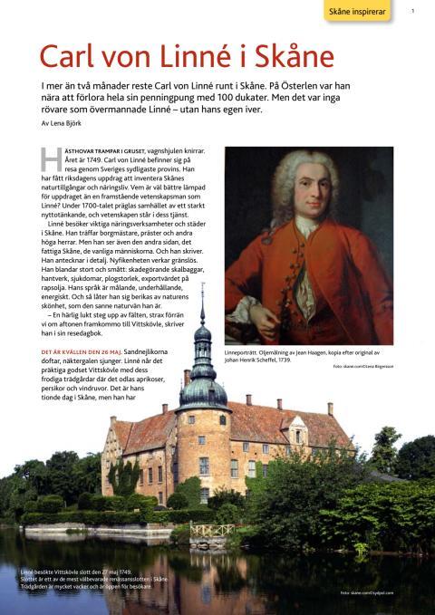 Carl von Linné i Skåne