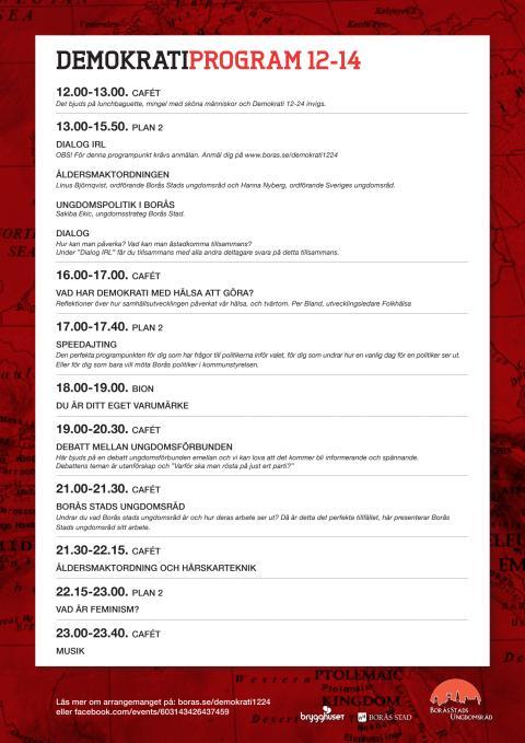 Program för demokratidag 9 maj 2014