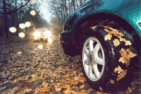 Erhöhtes Unfallrisiko: Auf herbstlichen Straßen droht Rutschgefahr