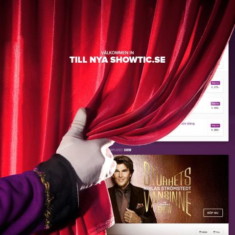 Showtic lanserar ny hemsida