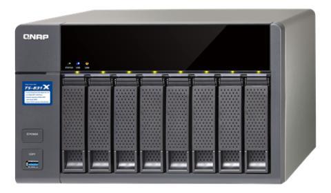 QNAP Kraftfuldt NAS- kabinet med 8 HDD slot og 2 SFP+ porte