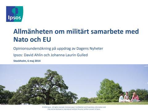 DN/Ipsos: Allmänheten om militärt samarbete med Nato och EU, maj 2014