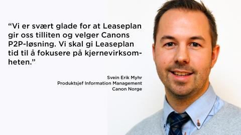 Canon Norge tegner avtale med Leaseplan om leveranse av Purchase to Pay-løsning