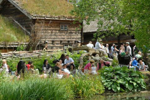 Midsommarfirande på Kulturen - picknick i friluftsmuseet