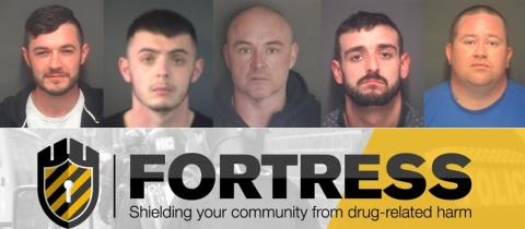 Five people jailed for nearly forty years for their part in a drug dealing ring based in Gosport.