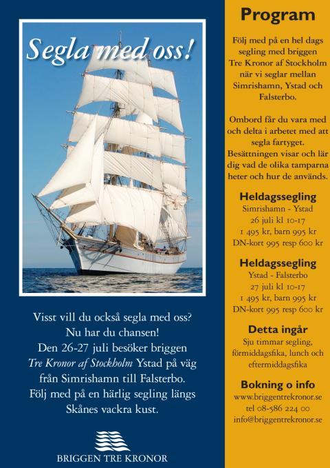 Program Briggen Tre Kronor i Ystad 26-27 juli 2012