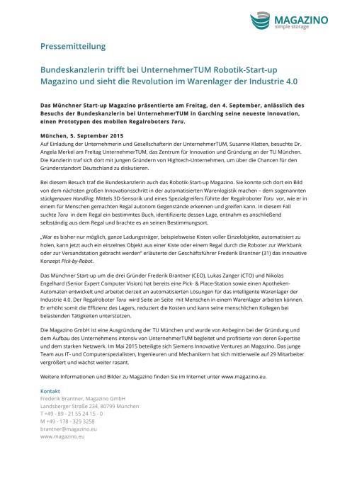 PM Bundeskanzlerin trifft Magazino 05.09.15