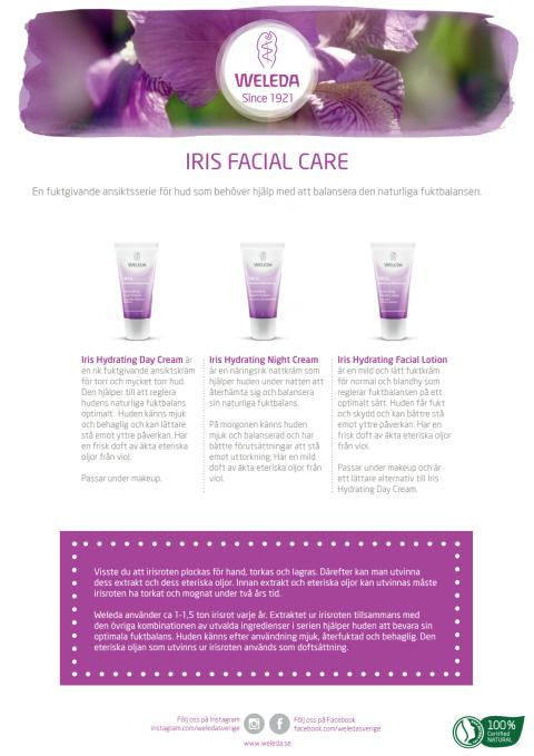 Samlingsblad Iris Facial Care