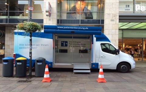 Beratungsmobil der Unabhängigen Patientenberatung kommt am 1. März nach Paderborn.