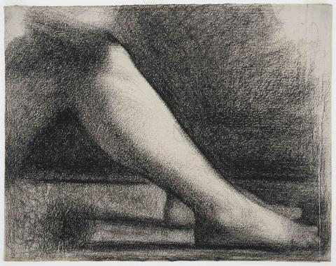 New acquisition: Crayon study by Georges Seurat
