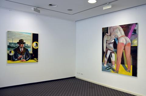 """Blick in die Ausstellung """"30 Jahre Friedliche Revolution"""" im Galerie Hotel Leipziger Hof"""