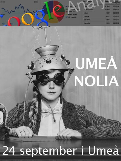 Utbildning i Google Analytics - Kurs med Certifierade Google Analytics Experter. Umeå, Nolia 24/9-13