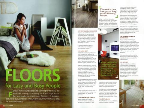 "Evorich Flooring Featured on ""Relaxing @Home"" Magazine"