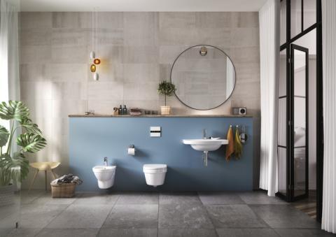 Snabb och enkel montering av vägghängt badrumsporslin med Gustavsbergs installationssystem Triomont