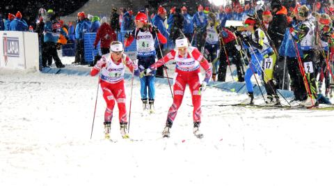 Mixed stafett, veksling Fanny-Tiril, VM Kontiolahti 2015