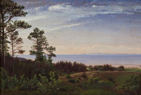 Skovgaard, P.C. - Udsigt fra Sjællands nordkyst over Kattegat med Kullen i baggrunden, ca. 1832 0148NMK