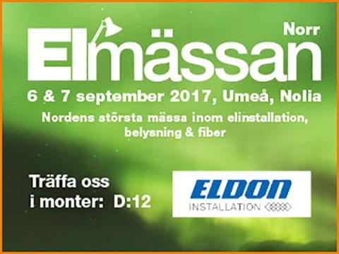 Eldon Installation ställer ut på Elmässan i Umeå 6-7 september
