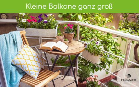 Kleine Balkone ganz groß –  Individuelle Gestaltungsmöglichkeiten für kompakte Balkone und Terrassen