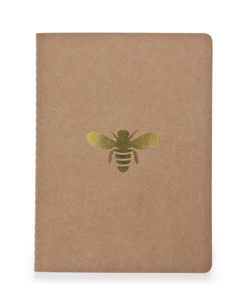 Anteckningsbok av återvunnet papper med bi