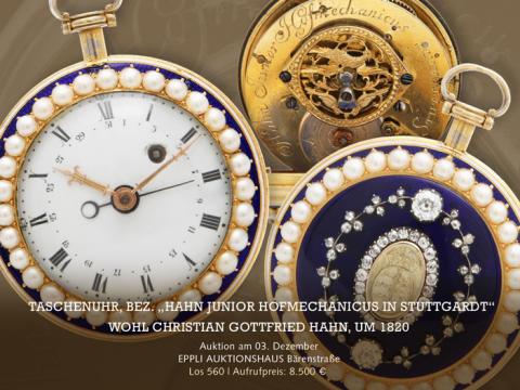 Schwäbischer Erfindergeist: Taschenuhr aus 1820