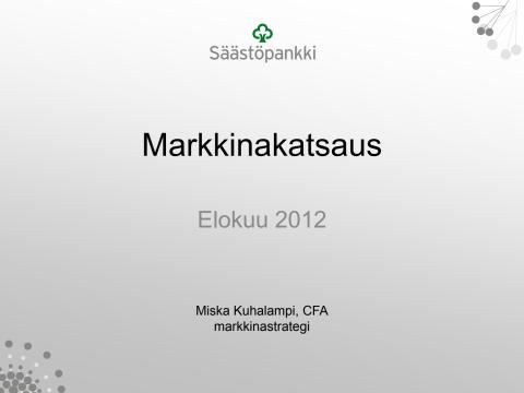 Marknadsöversiktens presentation