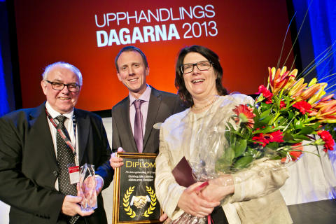 Landstinget Gävleborg vinnare av Handslaget, årets upphandling 2012 - partnerskapsdrift av laboratoriemedicin.