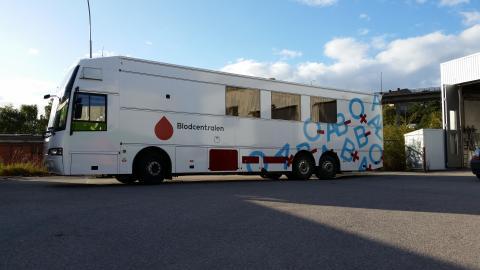 Blodcentralen Danderyd ersätts med blodbuss