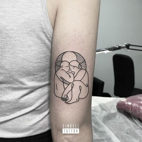 Vigeland-inspired tattoo