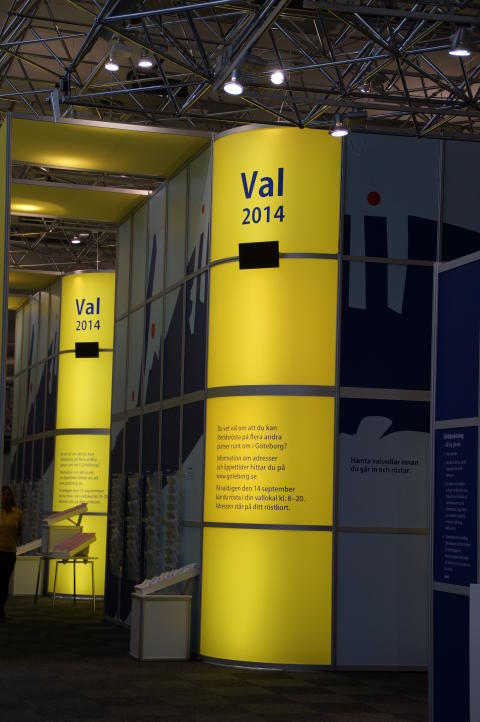 Supervalåret 2014 förtidsrösta i Nordstan till 14 september
