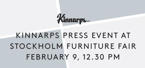 Welcome to Kinnarps press event at Stockholm Furniture Fair