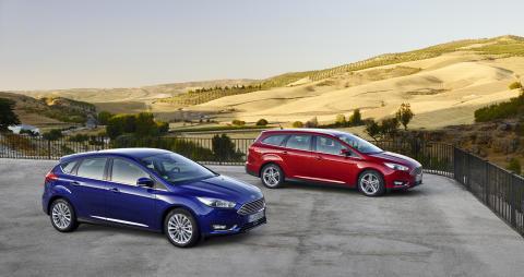 Uusi Ford Focus 5-ovinen ja wagon