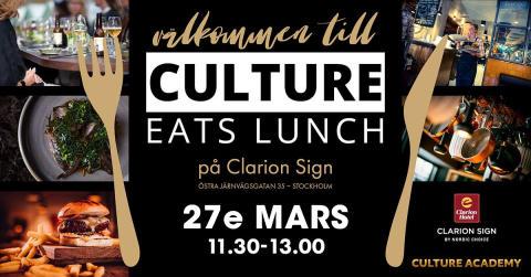 Culture Eats Lunch med Linda Hammarstrand