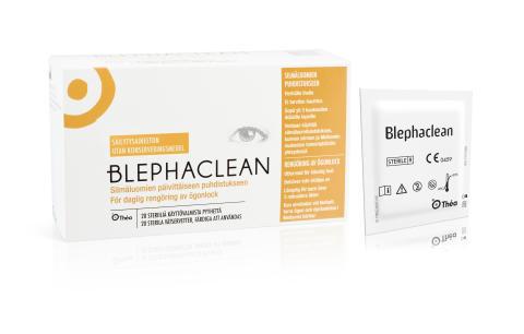 Blephaclean våtservetter för daglig vård av ögonlocken