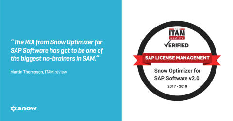 Snow Software Receives ITAM Review's First SAP License Management Certification