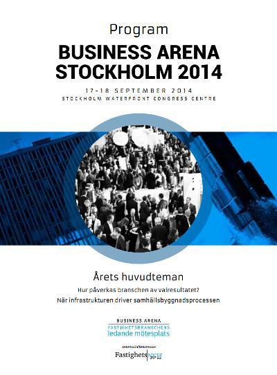 Här hittar du hela programmet för Business Arena Stockholm!