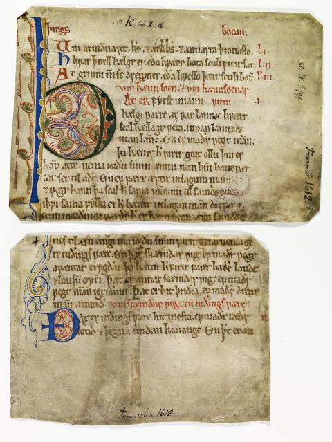 Fragmenter av Frostatingsloven ca. 1260
