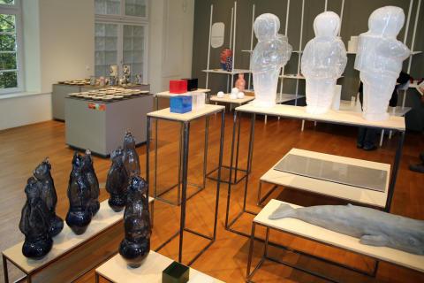 Kunst- und Designobjekte in der Ausstellung der Grassimesse 2019