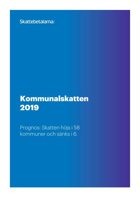 Kommunalskatten 2019