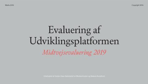 Midtvejsevaluering af Udviklingsplatformen for Scenekunst