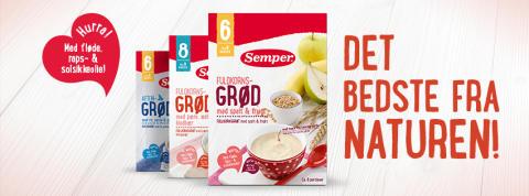 Semper lancerer helt nyt grød- og vællingsortiment